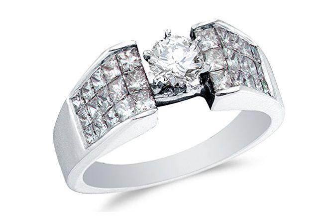 Invisible Diamond Ring Settings