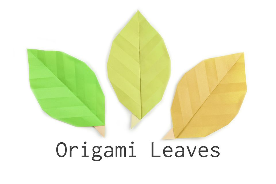 make some easy origami leaves