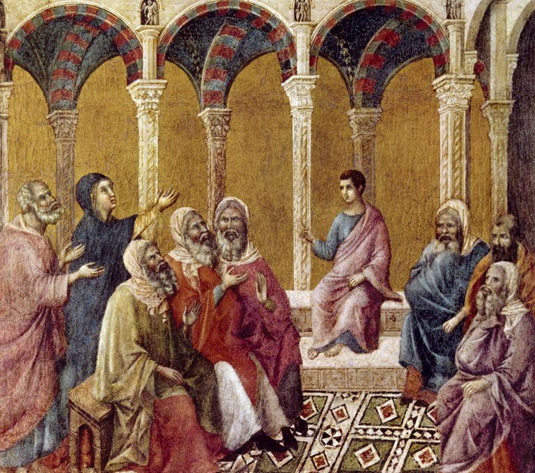 Child Jesus in Temple by Duccio di Buoninsegna