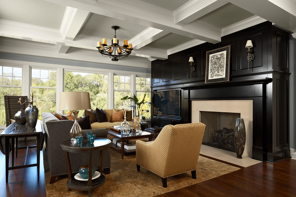 20 beautiful living rooms with fireplaces - Feature wall ideas living room with fireplace ...