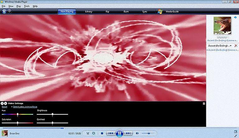 Windows Media Player 11 Main Screen