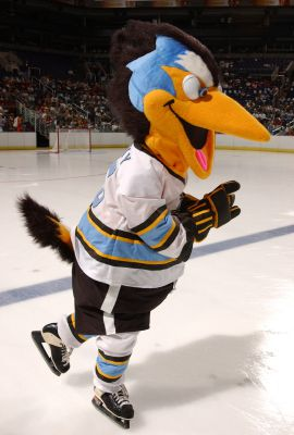 Rocky Roadrunner, Mascot of the Phoenix Roadrunners Hockey Club