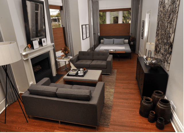 A Masculine Studio Apartment