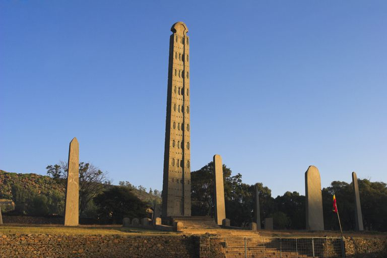The 24m King Ezana's stele in Northern Stelae Park, the biggest stele still standing.