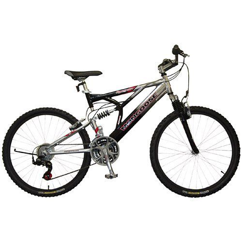Mongoose mountain bike with full suspension.