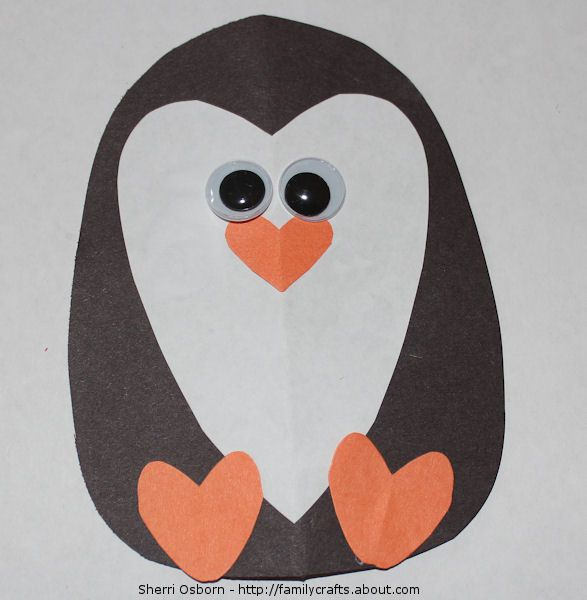 How to Make a Heart Penguin