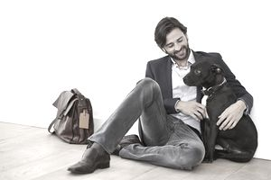 Lawyer with dog