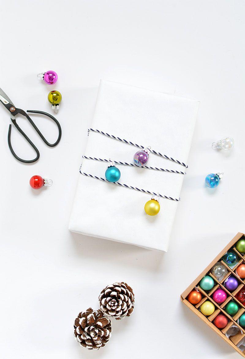 DIY Christmas Ornaments Gift Wrap
