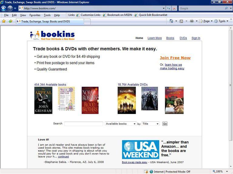 Book Exchange Websites - Bookins