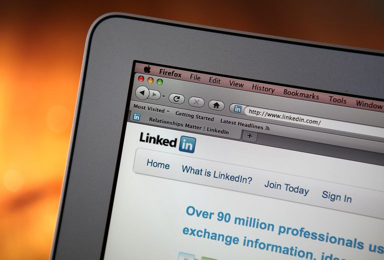 In this photo illustration, the LinkedIn logo is displayed on the screen of a laptop computer on January 27, 2011 in San Anselmo, California