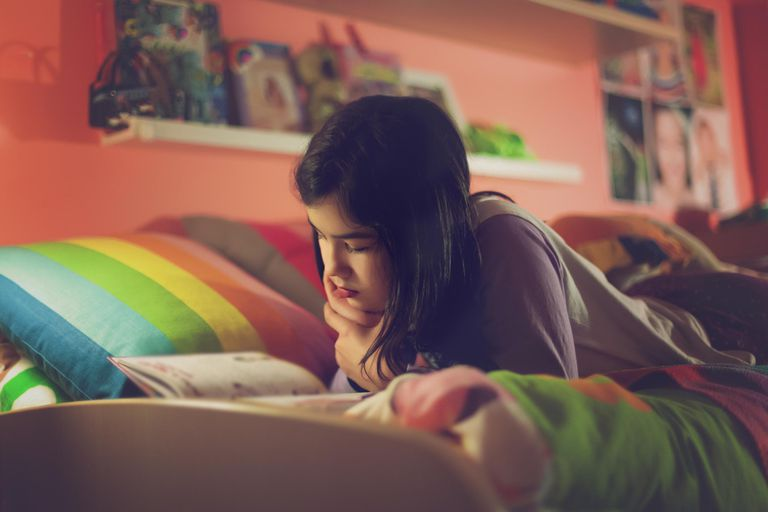 Reading in the bedroom at night