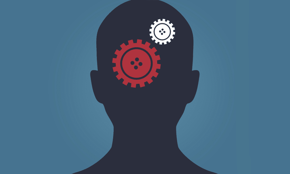 Brain with gears turning