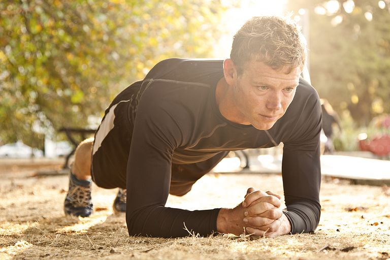The plank exercise.