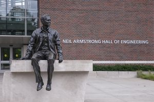 Neil Armstrong statue at Purdue University