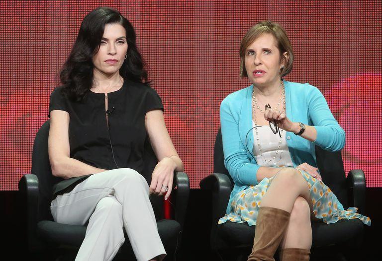 Michelle King y Julianna Margulies, creadora y protagonista de 'The Good Wife' respectivamente.