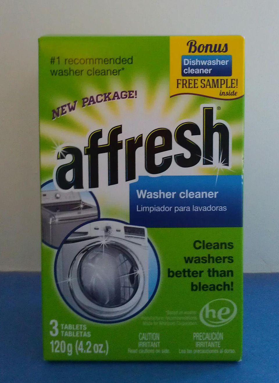 Box of Affresh Washer Cleaner.