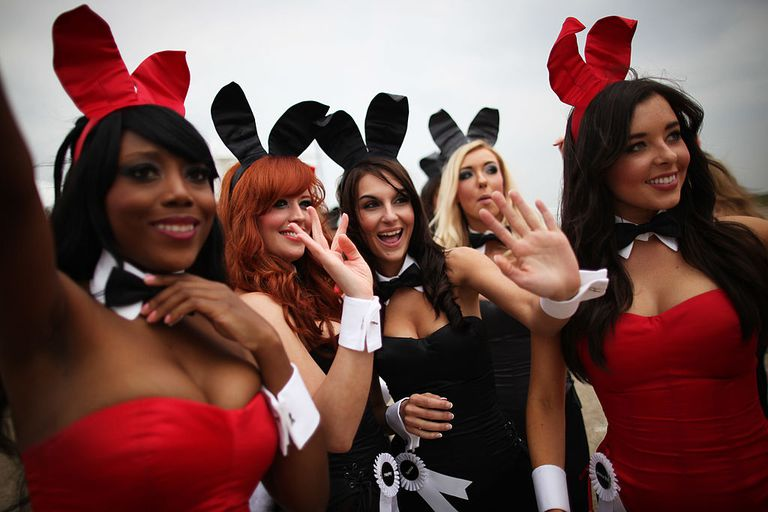 Hugh Hefner Arrives At Stansted Airport For Launch Of Playboy Club London