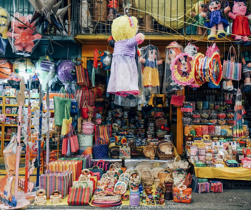 Market stall filled with Colorful items