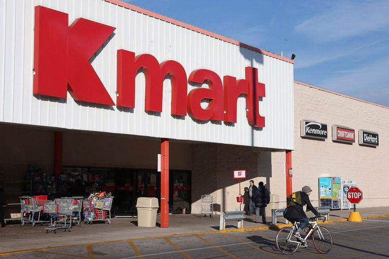CHICAGO, IL - NOVEMBER 14: A customer leaves a Kmart store on November 14, 2012 in Chicago, Illinois. Sears Holdings (SHLD), which owns Kmart, will report 3rd quarter earnings tomorrow afternoon. After a lackluster 2011 holiday season the retailer announced plans to close 120 Sears and Kmart stores.