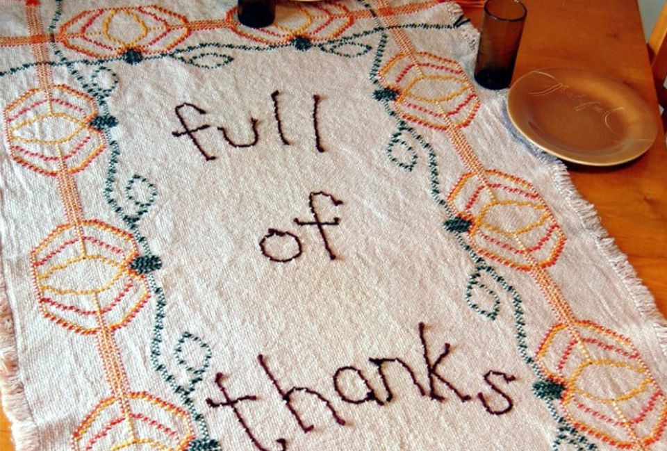 Full of Thanks Swedish Weaving Embroidery Pattern