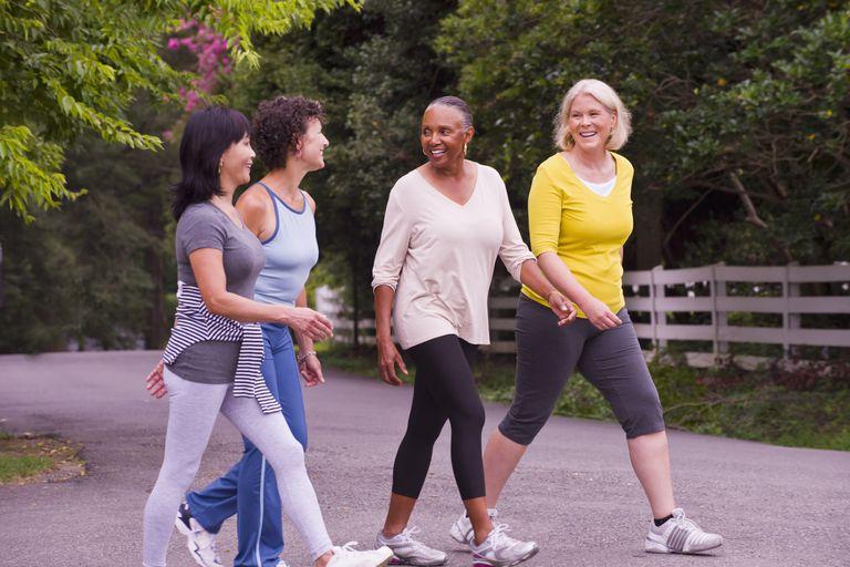 Four Midlife Walking Women