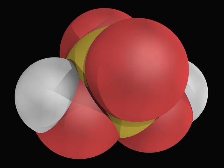 Sulfuric acid molecule