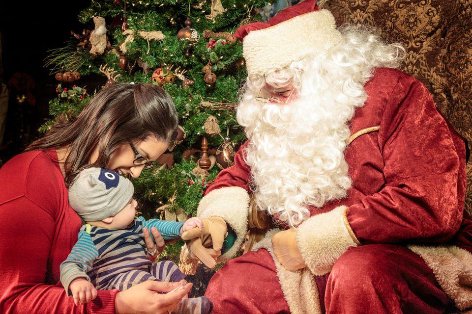 Visiting with Santa at Knott's
