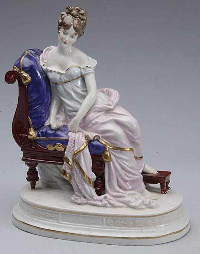 Sitzendorf Porcelain Figurine