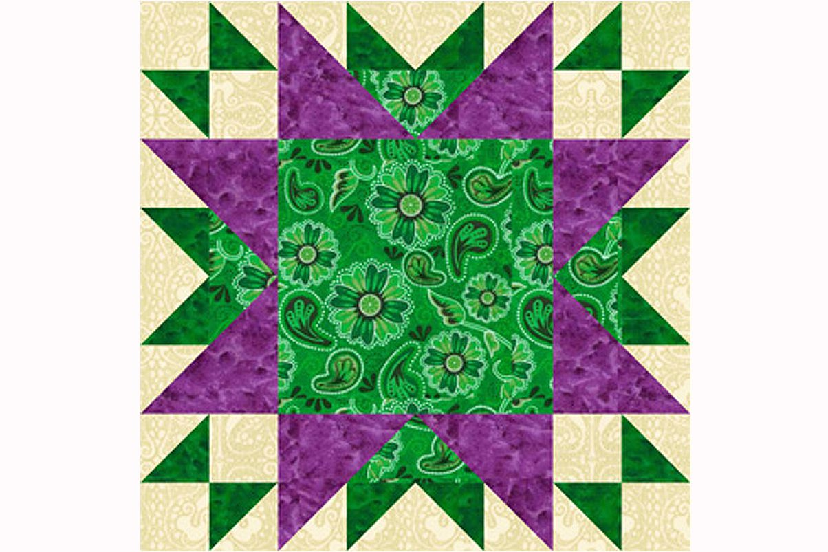 Oddfellows Chain A Large Patchwork Quilt Block Pattern