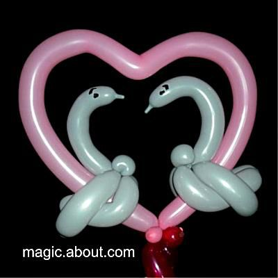 Heart Balloon With Swans