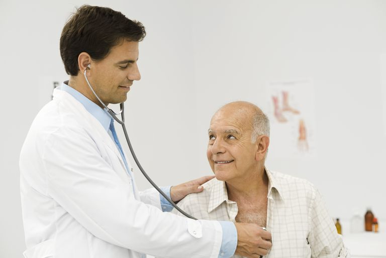 Doctor conducting medical exam
