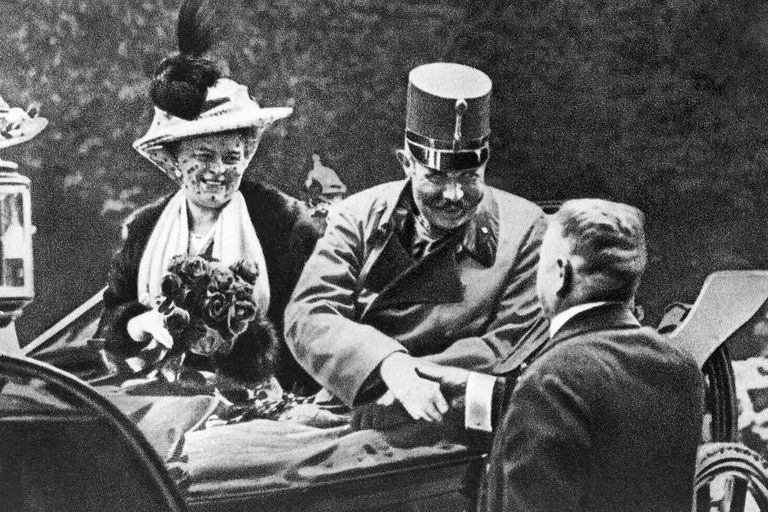 Archduke Ferdinand and his wife Sophie