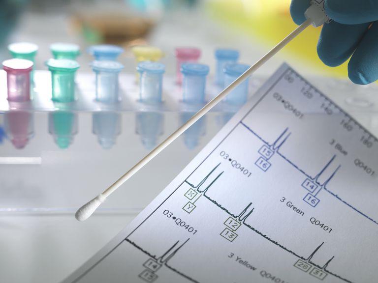 genetic testing swab and vials