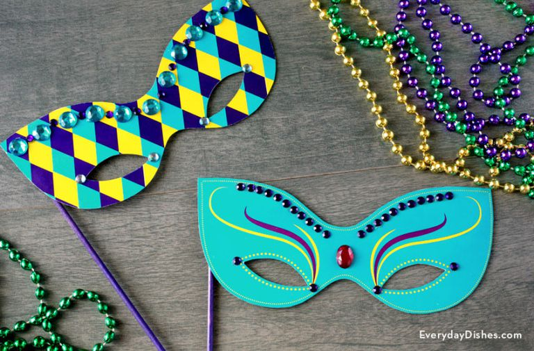 Two free Mardi Gras masks
