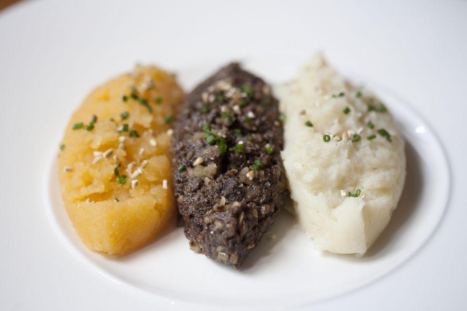 Mashed turnip and potato puree