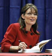 Sarah Palin, best-selling author, is now a comedian