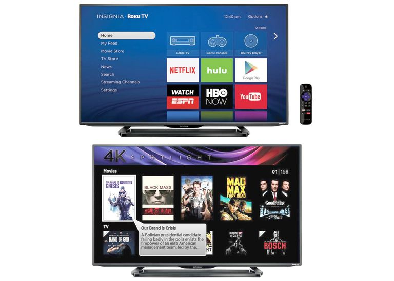 Insignia 4K Roku TV Example - NS-43DR710NA17