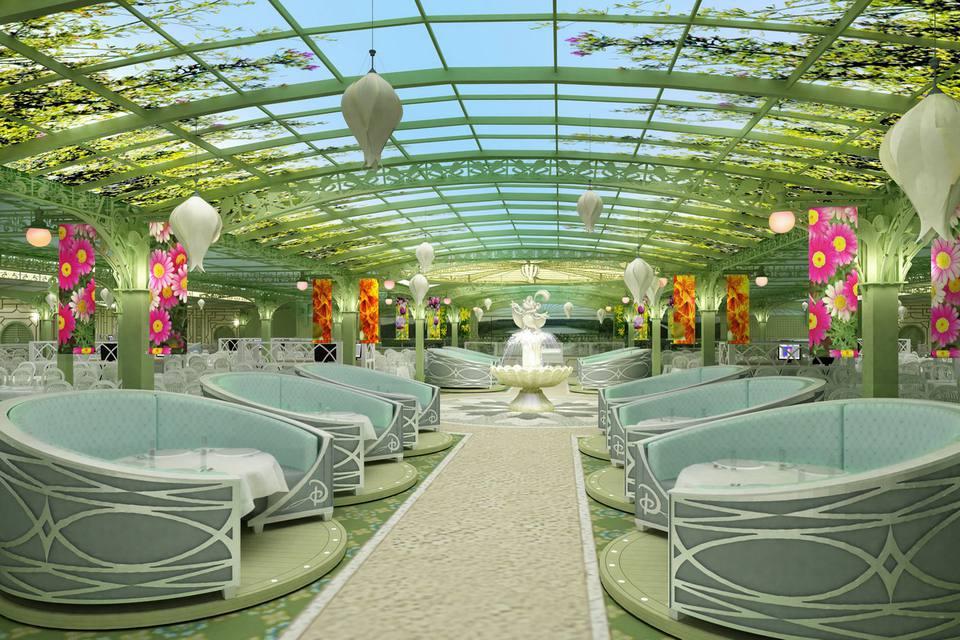 Disney Dream Dining - Enchanted Garden Restaurant by Day