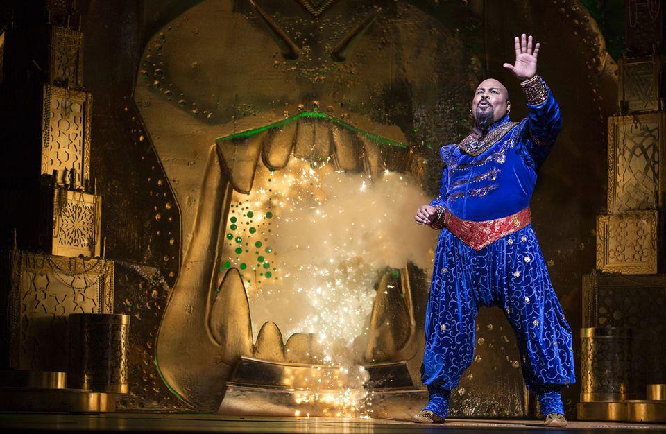 James Monroe Iglehart as the genie in Aladdin