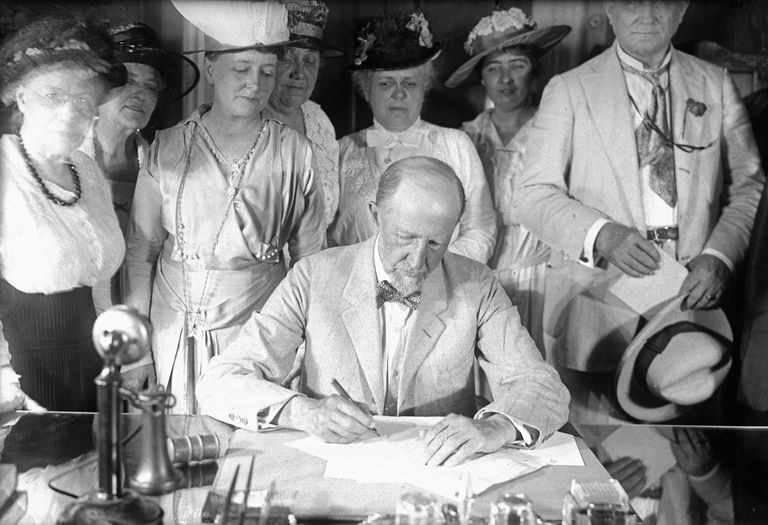 Suffrage Bill Being Signed