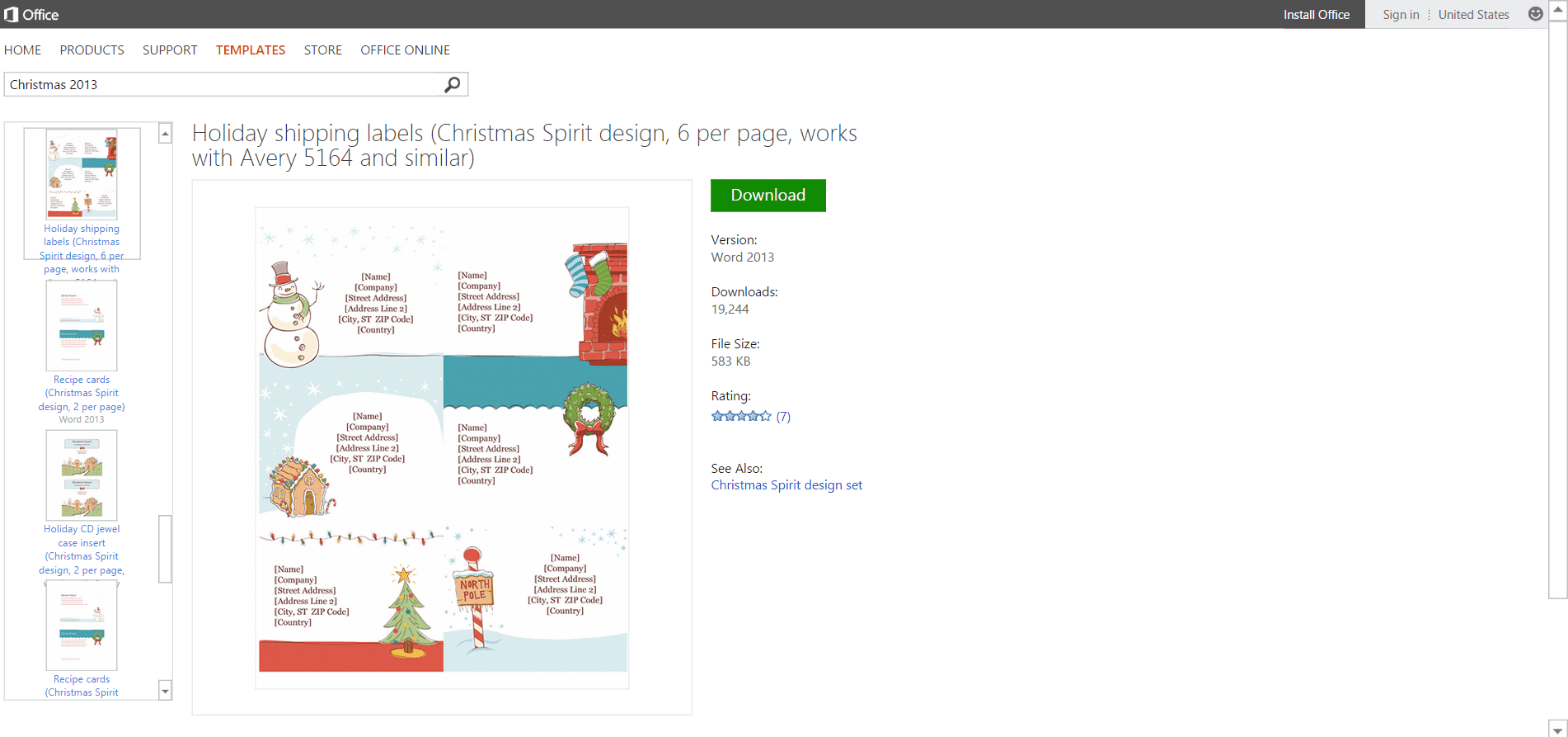 Microsofts Best Free DIY Christmas Templates – Shipping Label Template Free