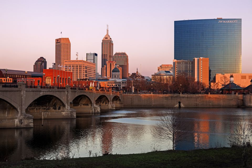 Indianapolis's famous skyline and the White River.