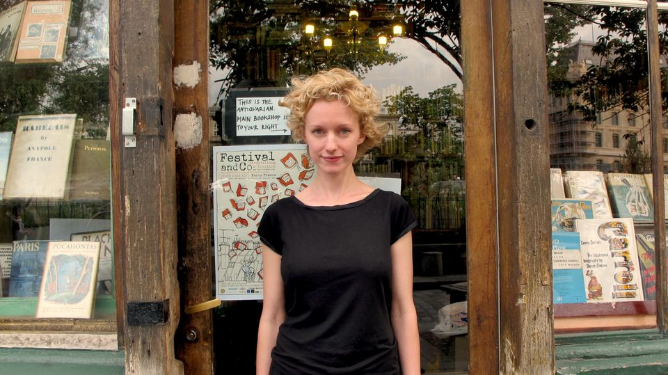 Sylvia Whitman outside the Shakespeare and Company bookshop in Paris.