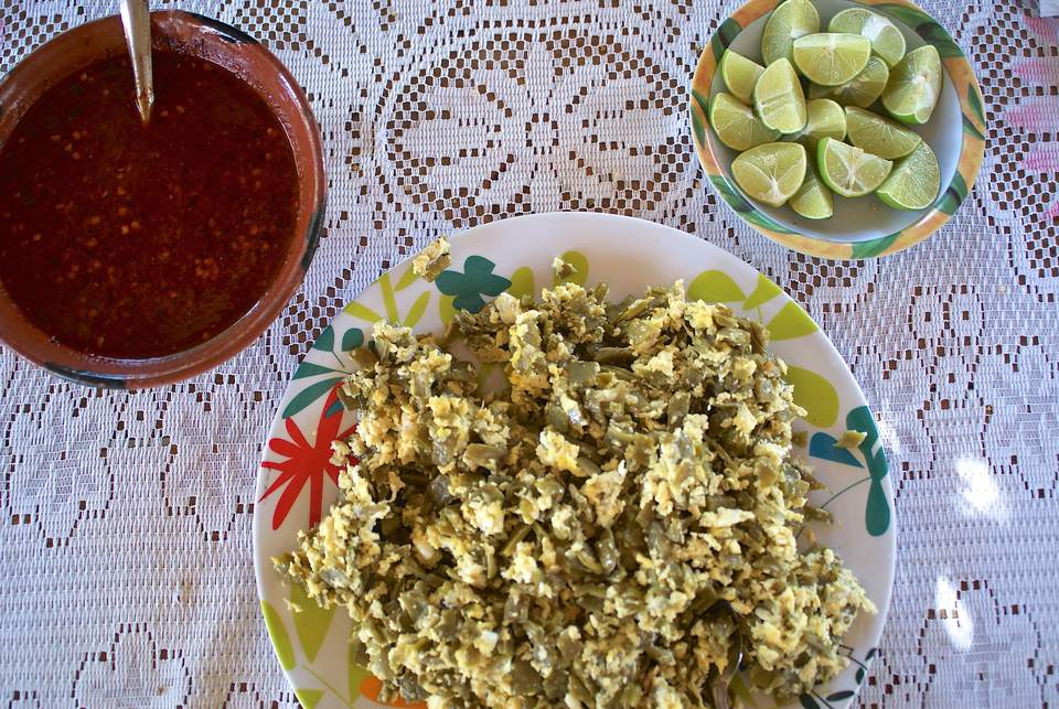 Image of Nopales and Eggs