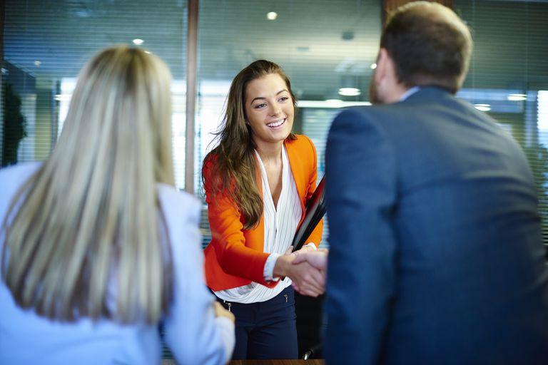 job interview greeting