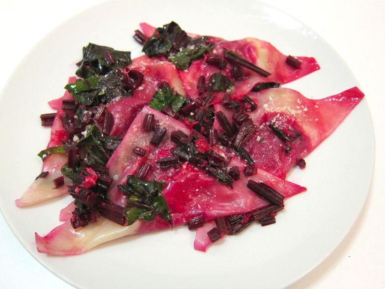 Roasted Red Beet and Goat Cheese Ravioli