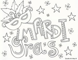 mardi gras coloring sheets at doodle art alley - Mardi Gras Coloring Pages Free Printable