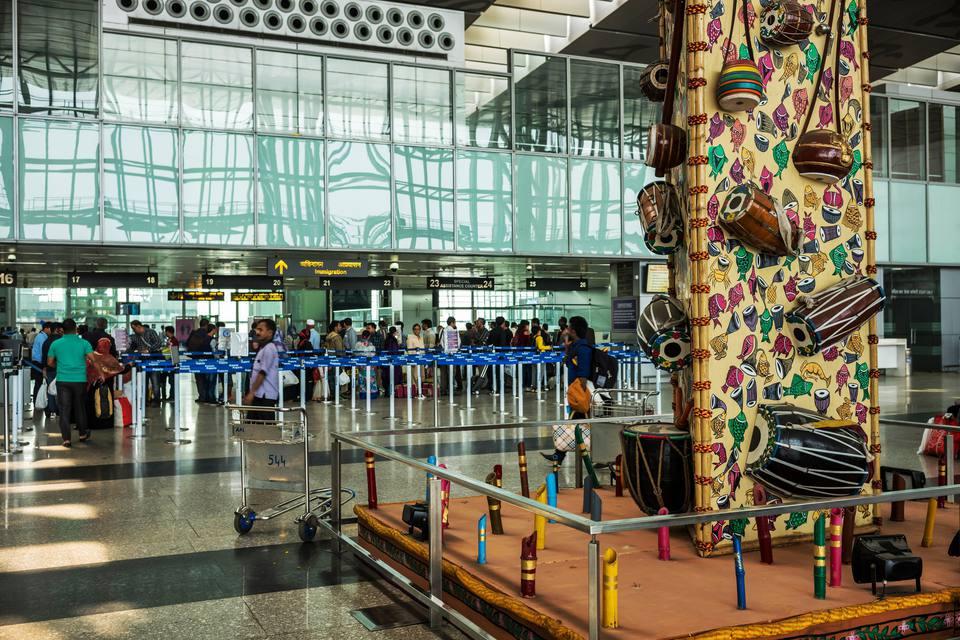 Kolkata airport.