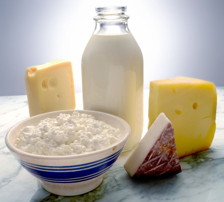 dairy products, including milk and cheese