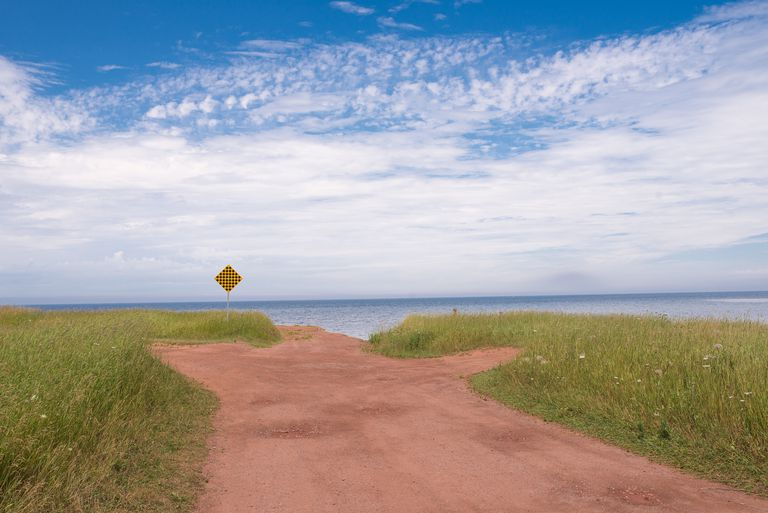 End of the road at North Cape, Prince Edward Island